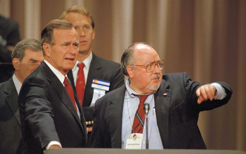 George H.W. Bush with Roger Ailes