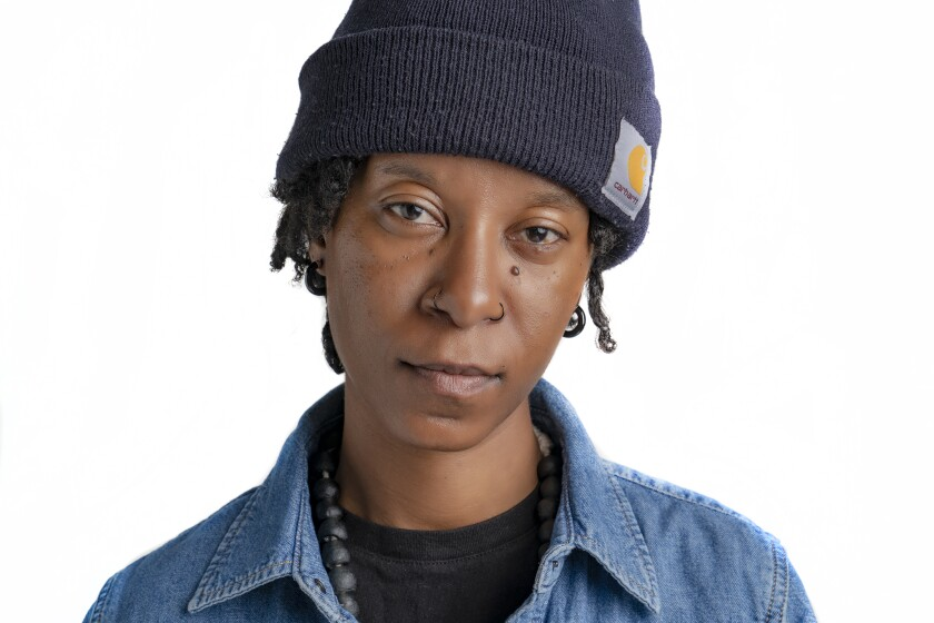 """Visual artist and writer dana washington is one of the 20 featured artists is the """"Forging Territories: Queer Afro and Latinx Contemporary Art"""" exhibition at the San Diego Art Institute at Balboa Park."""