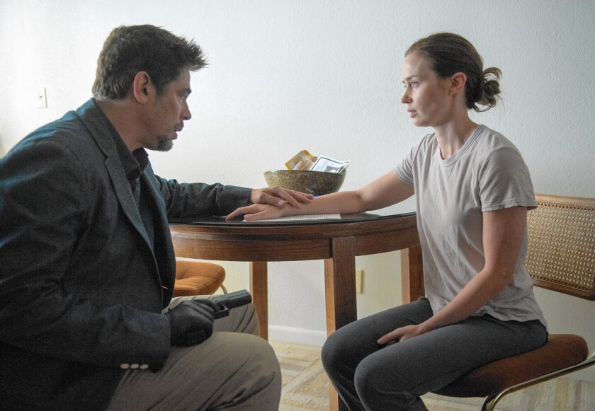 "Benicio Del Toro and Emily Blunt in ""Sicario"""