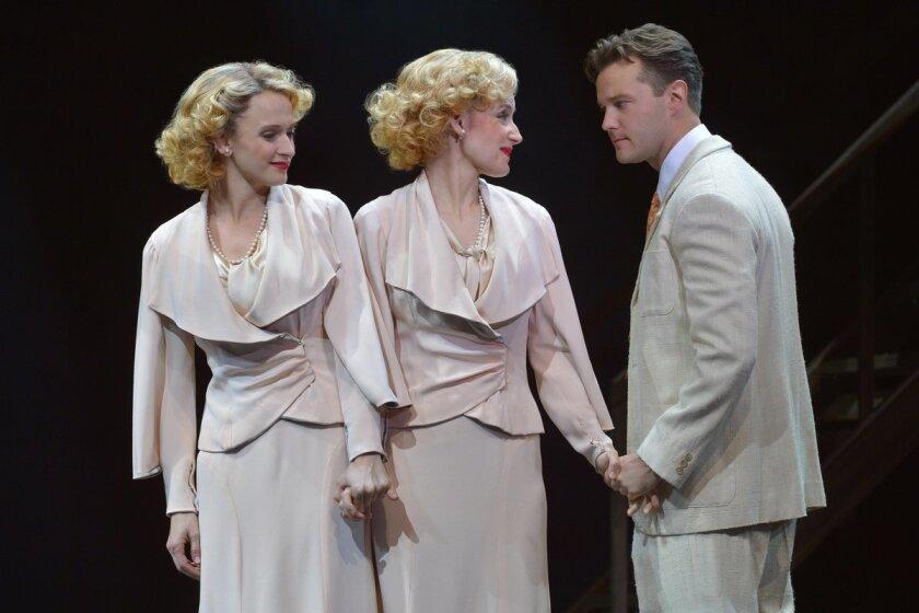 "Emily Padgett, Erin Davie and Matthew Hydzik (left to right) in La Jolla Playhouse's ""Side Show."""