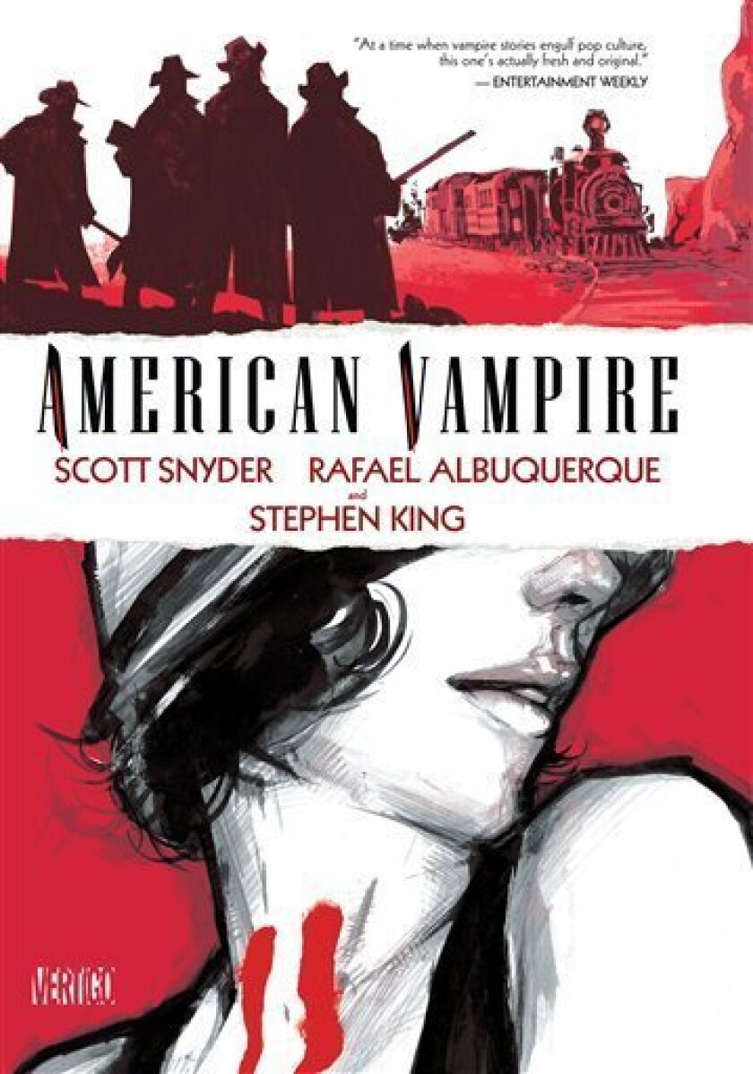 """In this comic book cover released by Vertigo, the latest installment of Vertigo's ongoing """"American Vampire"""" series about a former outlaw turned bloodsucker, created by Scott Snyder and augmented by Stephen King, is shown. (AP Photo/Vertigo)"""