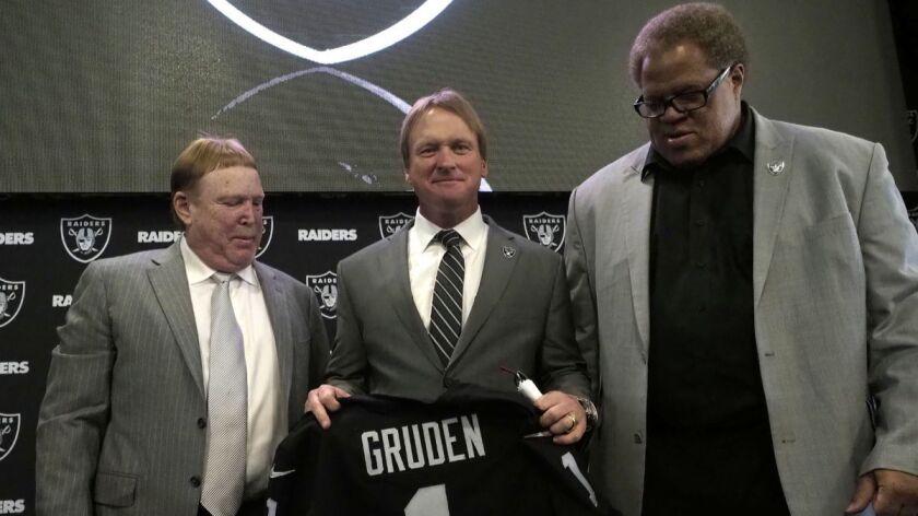 Oakland Raiders new head coach Jon Gruden, Alameda, USA - 09 Jan 2018
