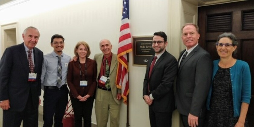 Members of the Citizen's Climate Lobby's San Diego North chapter visited Washington, D.C., to promote environmental legislation.