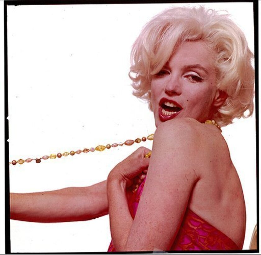 """In this photo provided by Weingrad & Weingrad LLP, a copy of a transparency showing actress Marilyn Monroe made is Los Angeles in July, 1962 is shown. A settlement has been reached in the New York legal fight over seven nude and semi-nude photographs taken during Marilyn Monroe's """"Last Sitting"""" in"""
