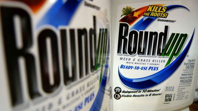 Monsanto makes Roundup weed killer, as well as seeds for fruits, vegetables, corn, soybeans, cotton and other crops.
