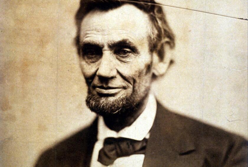 Julia Ward Howe's 1861 portrait of President Lincoln.