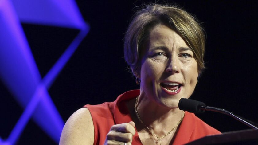 Massachusetts Attorney General Maura Healey and 10 other state attorneys general, including Lisa Madigan of Illinois, are investigating hiring practices that critics say prohibit minimum wage workers from seeking better positions or pay.