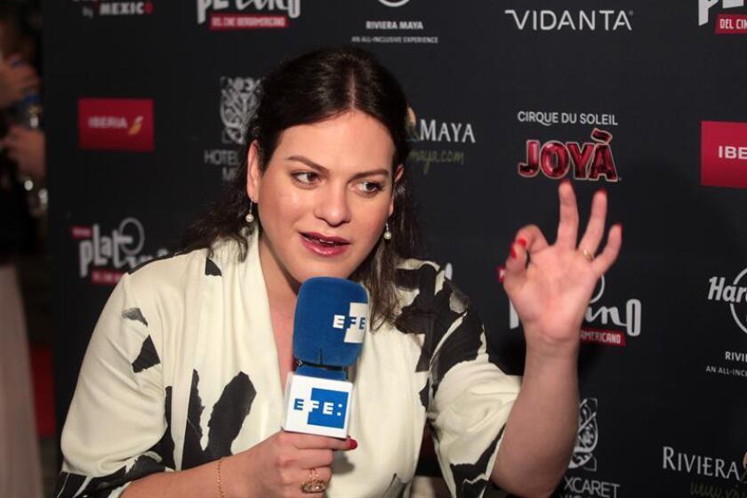 La actriz chilena Daniela Vega habla en entrevista con Efe este sábado 28 de abril de 2018, en Playa del Carmen Quintana Roo (México). EFE