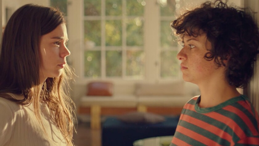 "(L-R) - Alia Shawkat and Laia Costa in a scene from ""Duck Butter."" Credit: Hillary Spera / The Orcha"