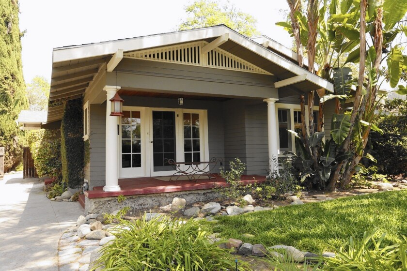A home for sale in South Pasadena, where good schools and tree-lined streets close to downtown L.A. mean properties often sell for above the asking price.