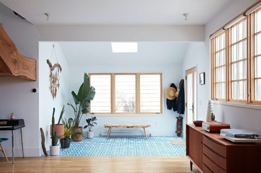 A skylight design by Mason St. Peter in the Sunset District of San Francisco. This Velux model opens and closes and costs about $3,000, including installation.
