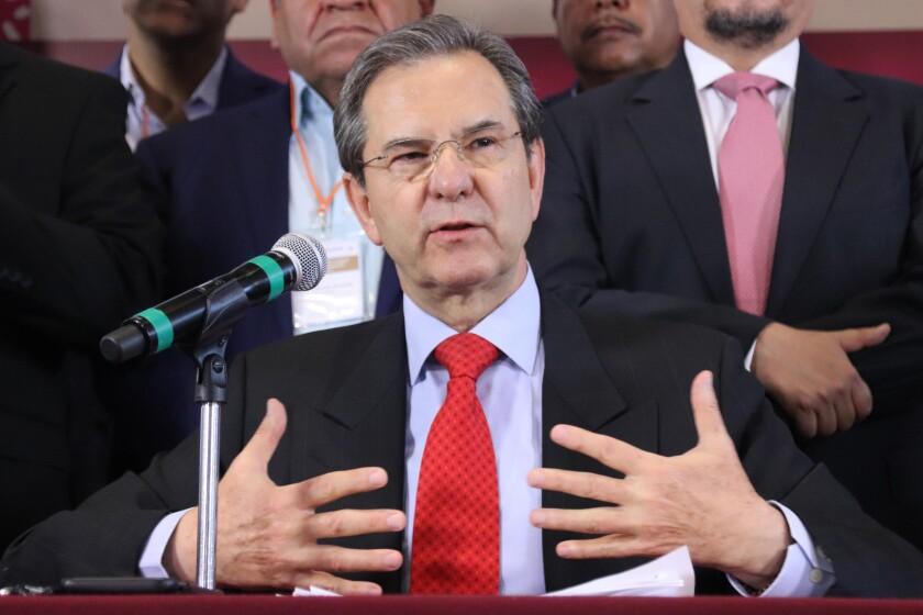 El secretario de Educación Pública, Esteban Moctezuma Barragán