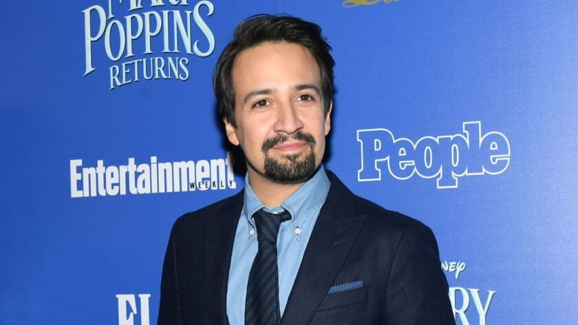 """Actor/playwright Lin-Manuel Miranda attends """"Mary Poppins Returns"""" hosted by The Cinema Society at SVA Theater on Dec. 17, 2018, in New York."""
