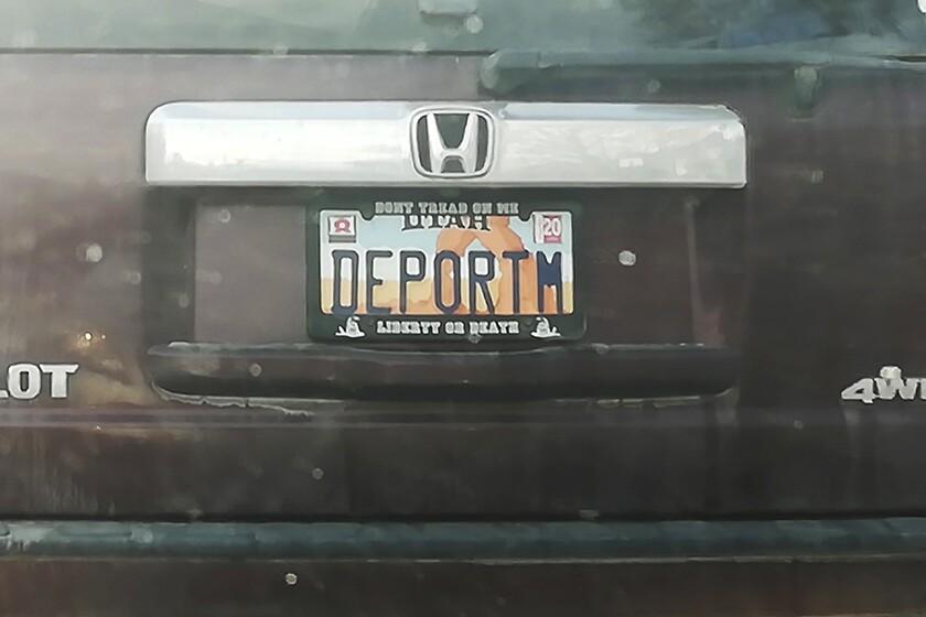 Deport License Plate Utah