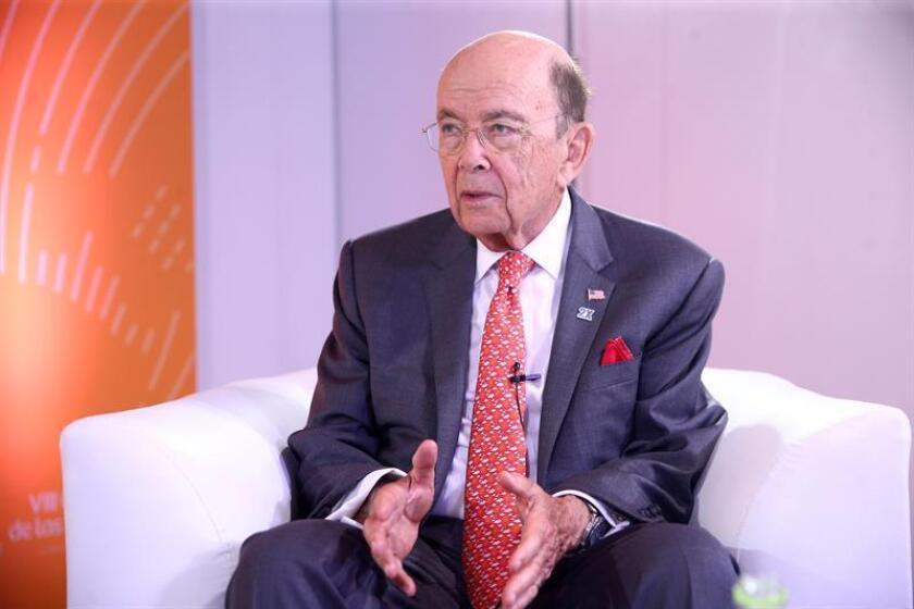 El secretario de Comercio de los Estados Unidos, Wilbur Ross, durante una entrevista. EFE/Archivo
