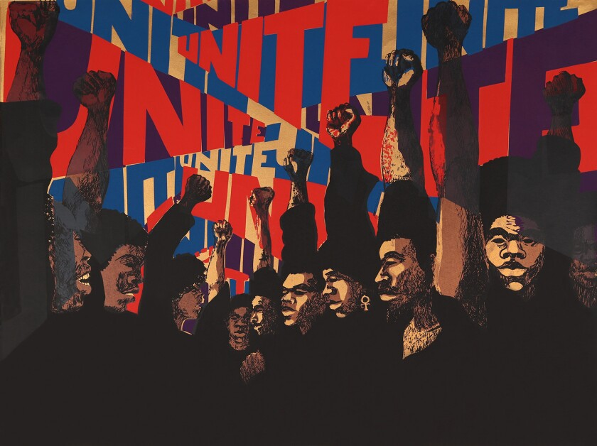 Barbara Jones-Hogu, Unite (First State) 1969. Screenprint. ©