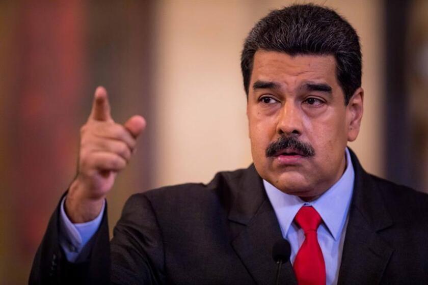 El presidente de Venezuela, Nicolás Maduro, habla durante una rueda de prensa en Caracas (Venezuela). EFE/Archivo