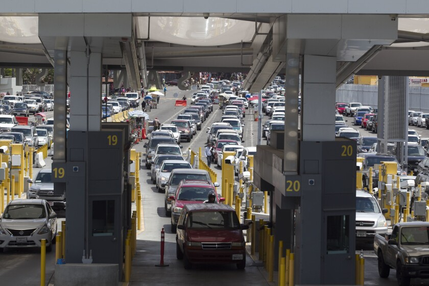 The San Ysidro border crossing is the busiest land border crossing in the world, each day handling an average of 133,000 crossings.