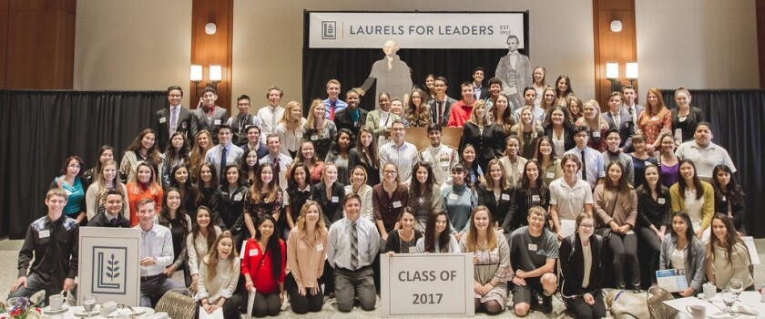 Nearly 100 high school seniors were honored recently at the 60th annual Washington-Lincoln Laurels for Leaders luncheon, held at San Diego State University.