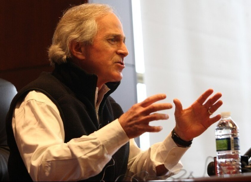"""From """"we will overcome"""" to """"the whole world is watching"""": Sen. Bob Corker (R-Tenn)."""