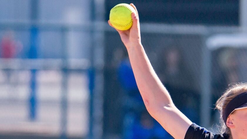 Ramona High School girls softball