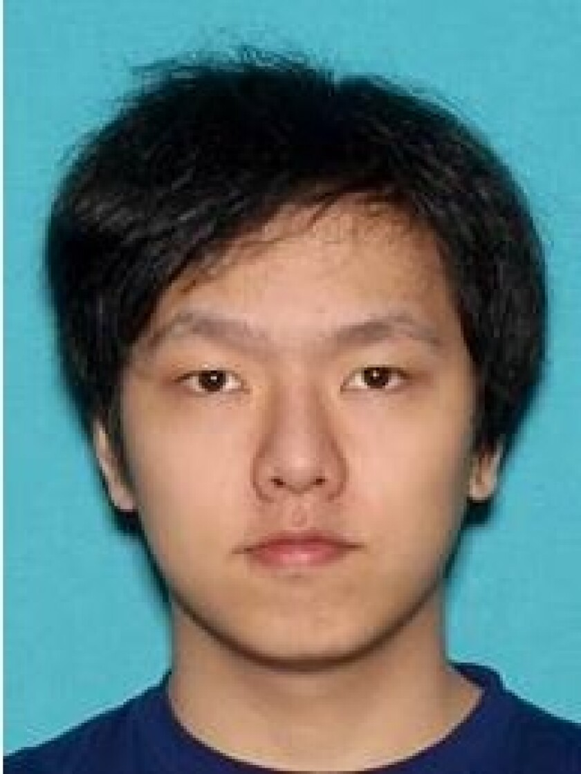 Ruiang Zhang, 22, was arrested on suspicion of felony animal abuse Sunday, police said.