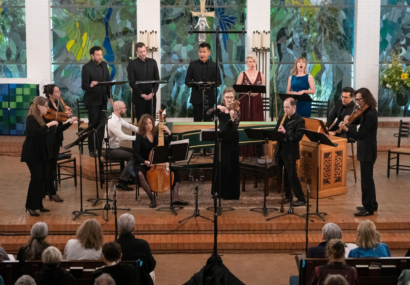 In this file photo, founder and artistic director Ruben Valenzuela conducts Bach Collegium San Diego.