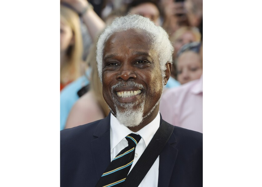 "FILE - Billy Ocean arrives for the World premiere of ""Keith Lemon: the Film"" in London on Aug. 20, 2012. Ocean's latest album ""One World"" will be released on Sept. 4, 2020. (AP Photo/Jonathan Short, File)"