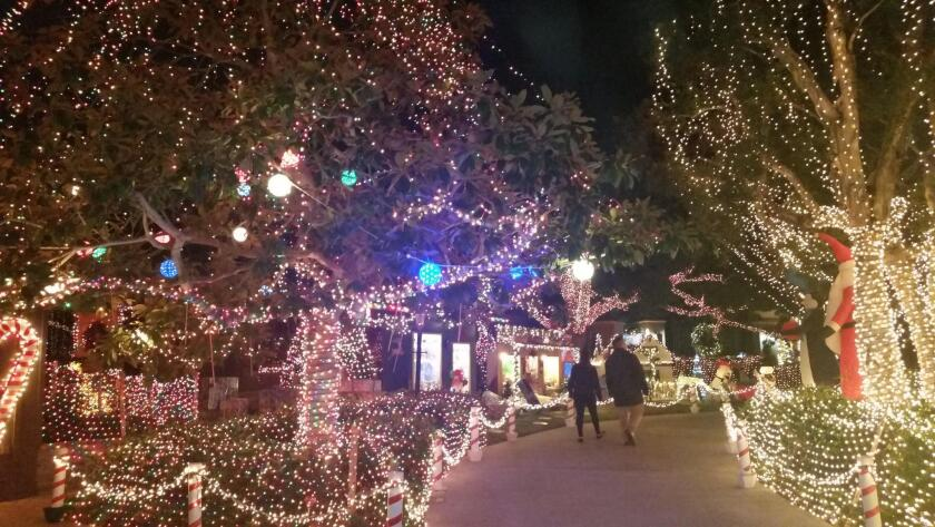 The Gift from Garrison: Don't miss the annual holiday lights spectacular along Garrison Street in Point Loma, Nov. 22-Dec. 31, 2018. The best night to go is Christmas Eve, when curb 'lanterns' line the neighborhood and the mood is magic!