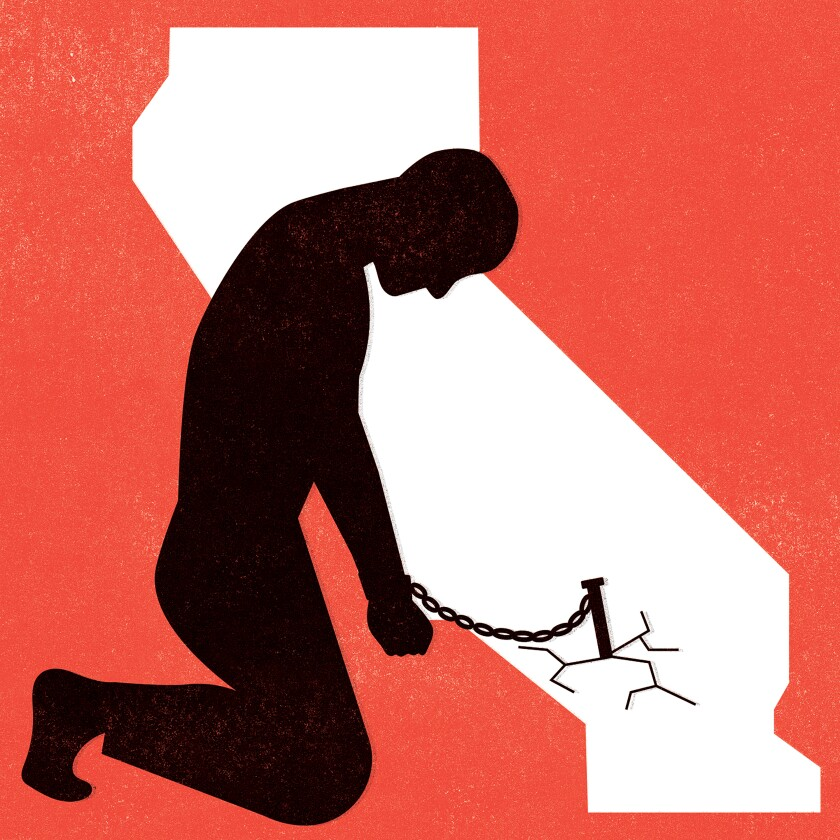 Slavery in California illustration