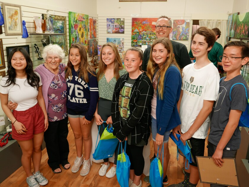 Escondido Art Association members, parents and K-12 students gathered for an awards ceremony and reception recently.