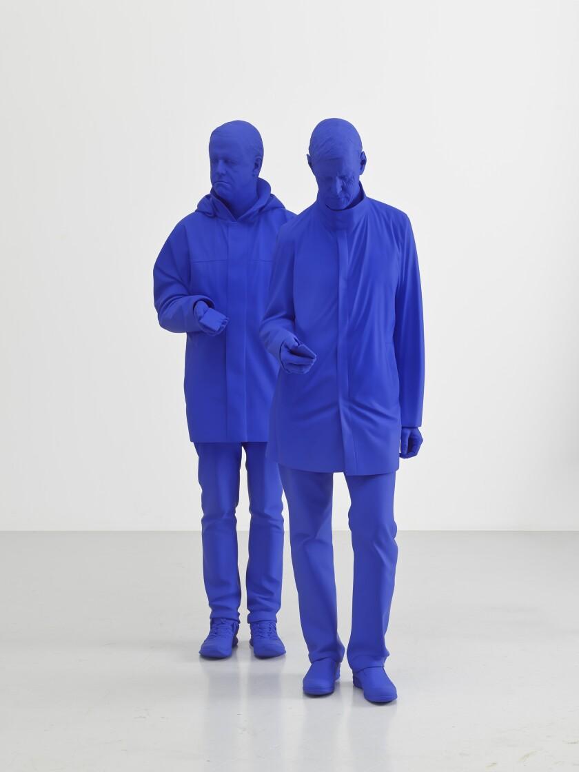"""""""Zwei Männer / Two Men,"""" 2019, by Katharina Fritsch"""