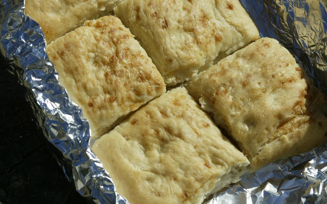 Cheese focaccia squares