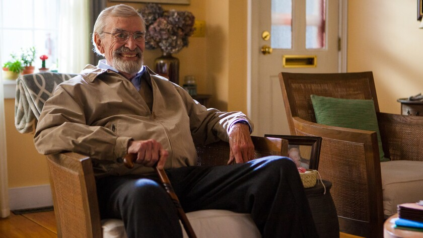 "Martin Landau in a scene from the movie ""Abe and Phil's Last Poker Game."" Credit: Gravitas Ventures"