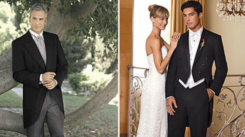 The Right Wedding Tuxedo Is A Matter Of Timing Los Angeles Times - Wedding Tuxedo, Men S 2 Button Royal Blue Wedding Tuxedo Suit