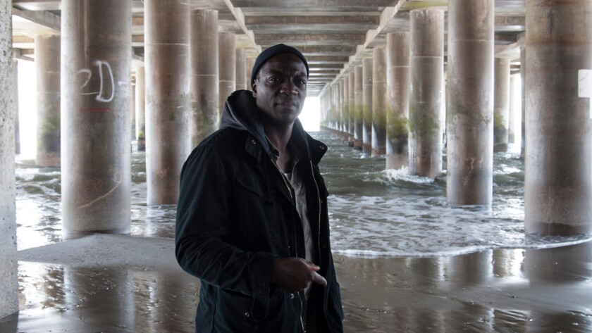 """Adewale Akinnuoye-Agbaje portrays a disgraced detective on a last-chance posting in a desolate stretch of New Jersey waterfront, in the film """"Wetlands."""""""