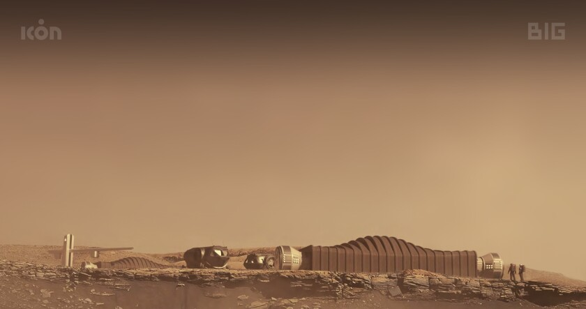 una propuesta para el hábitat Mars Dune Alpha en Marte.