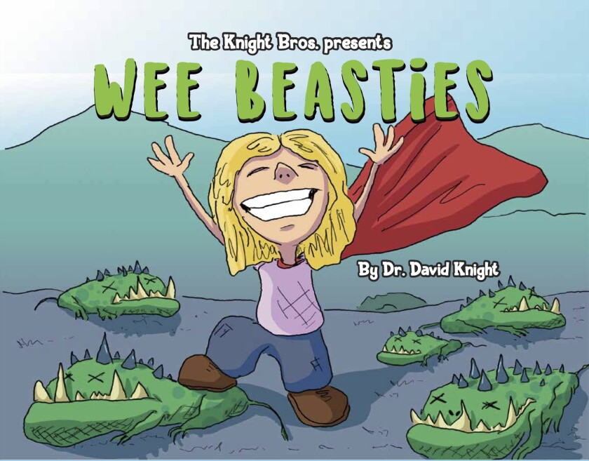 """""""WEE BEASTiES"""" is the first in a series of books produced by Encinitas resident Bradford Knight and his brother David."""