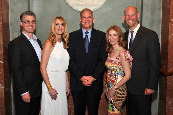 Brandon and Heather Keith (gala co-chair), Michael Hopkins (JFS CEO), Karin and Tony Toranto (gala co-chairs)