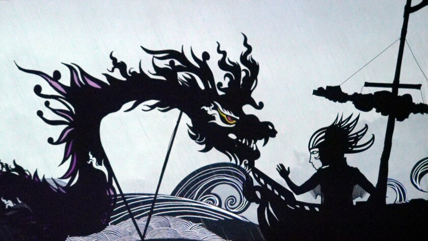 """""""Feathers of Fire"""" shadow theater"""