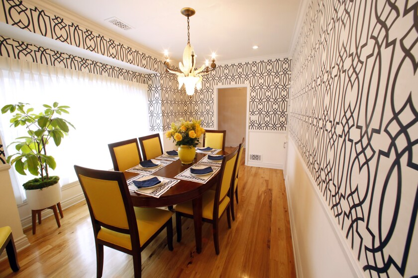 """I call these 'Mexican yellow chairs,'"""" Thurmond explains. He showed Frid the color, which she used a"""