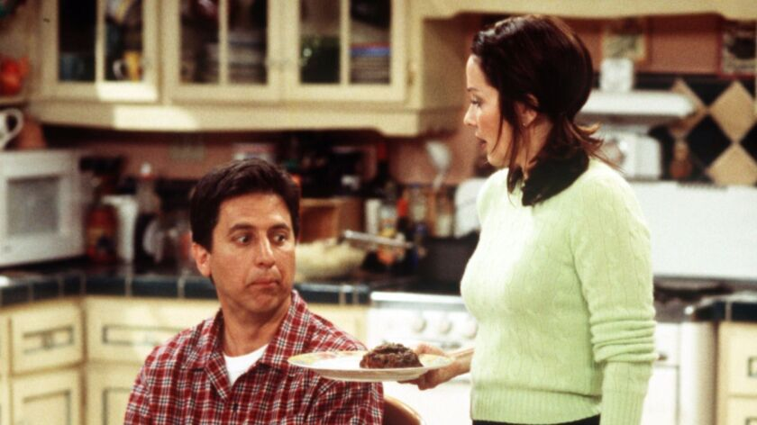 """Ray Romano and Patricia Heaton in a scene from """"Everybody Loves Raymond"""" in 2002."""