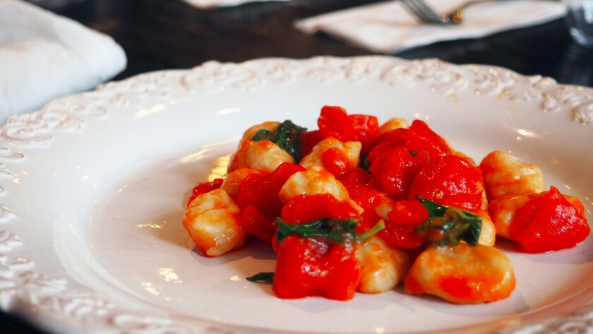 Gnocchi from Cento pasta bar in downtown L.A.