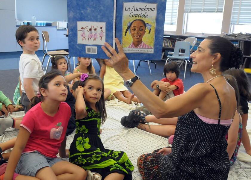 Elena Marqueto–Kelly teaches an advanced Spanish class.