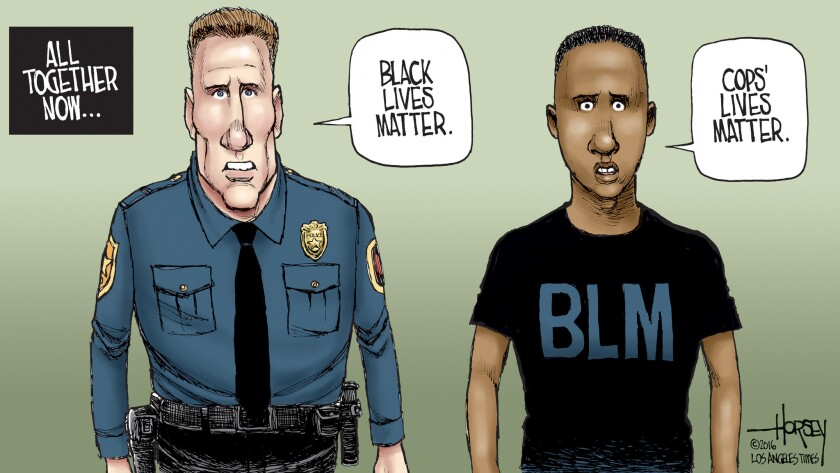 Life matters to both police officers and black citizens.