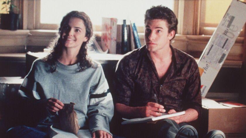 "Keri Russell as Felicity Porter and Scott Speedman as Ben Covington in a scene from an early season of ""Felicity."""