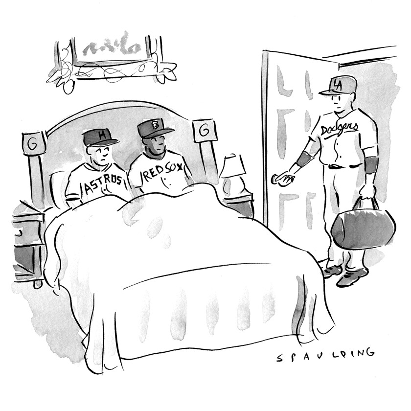 Op-ed cartoon for MLB cheating scandal piece, Sunday, Feb. 9, 20