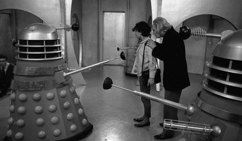 """William Hartnell and Carole Ann Ford star in an early """"Doctor Who"""" serial."""