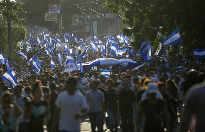 """Estados Unidos condenó hoy la """"repugnante violencia política"""" y """"represión"""" ejercida por la Policía y los """"matones favorables al Gobierno"""" contra el pueblo de Nicaragua en las protestas de la última semana. EFE"""