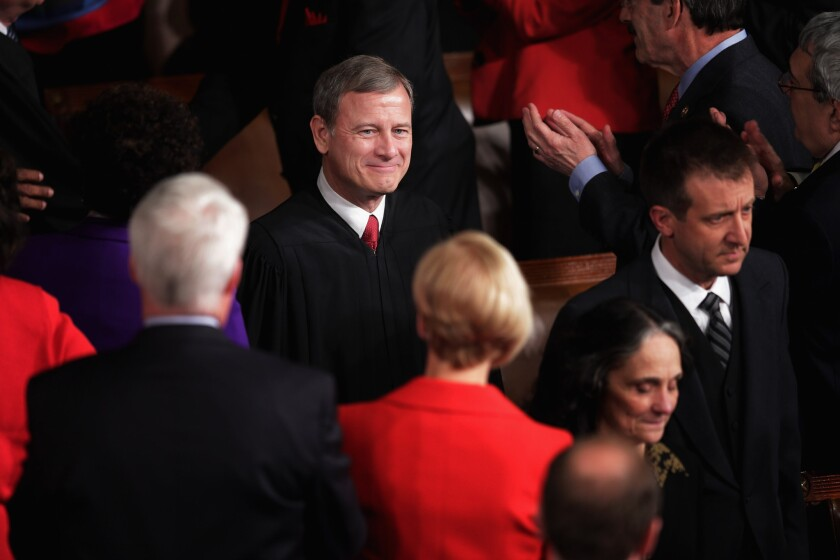 Will he have the last word on Halbig? Chief Justice John Roberts, seen here attending the 2014 State of the Union address.